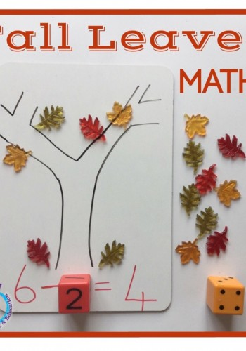 Fall leaves math activity for kids