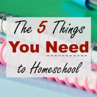 The Only 5 Things You NEED to Homeschool
