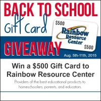 $500 Rainbow Resource Back to Homeschool Giveaway!