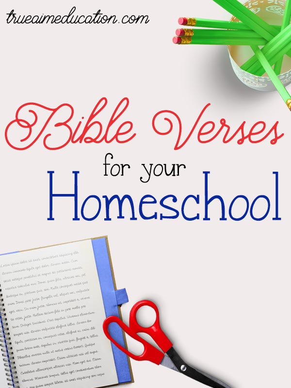 Bible Verses for your homeschool