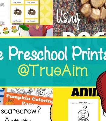 Free Preschool Printables and Mom's Library #154
