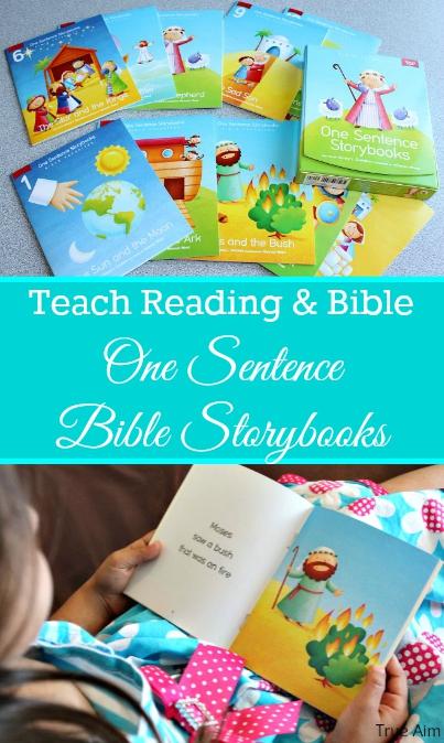 One sentence bible storybooks