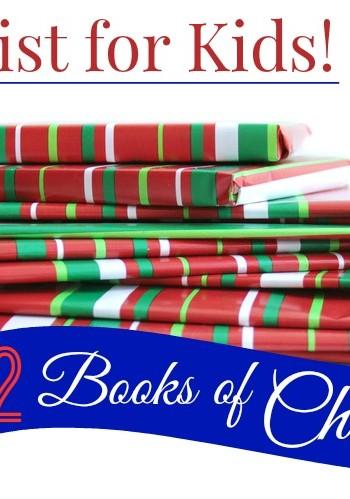 12 Books of Christmas Gift List for kids