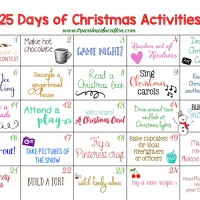 25 Days of Christmas Activities Advent Calendar