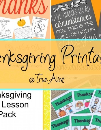 Thanksgiving Printables and Mom's Library #165
