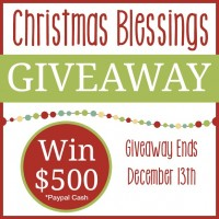 Christmas Blessings Giveaway!