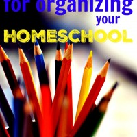 5 Tips for Organizing Your Homeschool