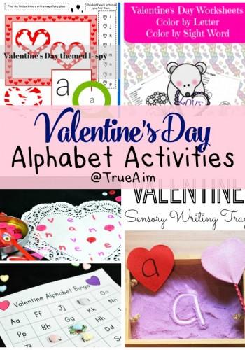 Valentine Alphabet Activities and Mom's Library #174