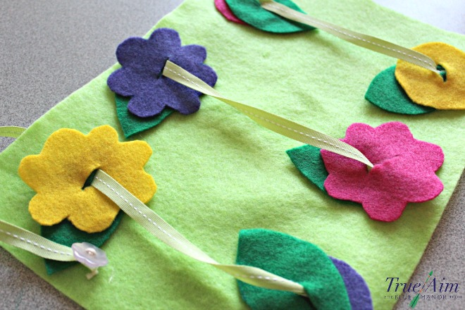 Beginner sewing activity - Button Threading Garden