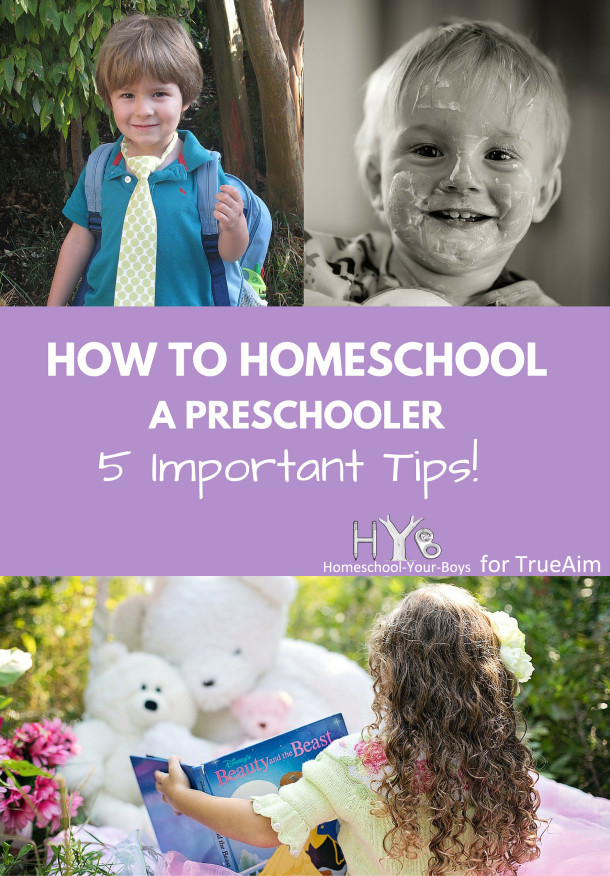 How to Homeschool a Preschooler - 5 Important Tips!