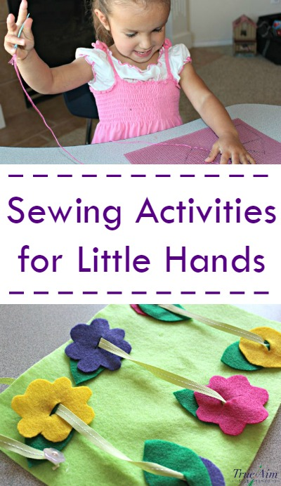 Sewing activities for little hands - easy beginner sewing activities that promote fine motor skills and mimic the