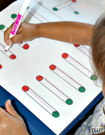 Simple Preschool Handwriting and Drawing Worksheets