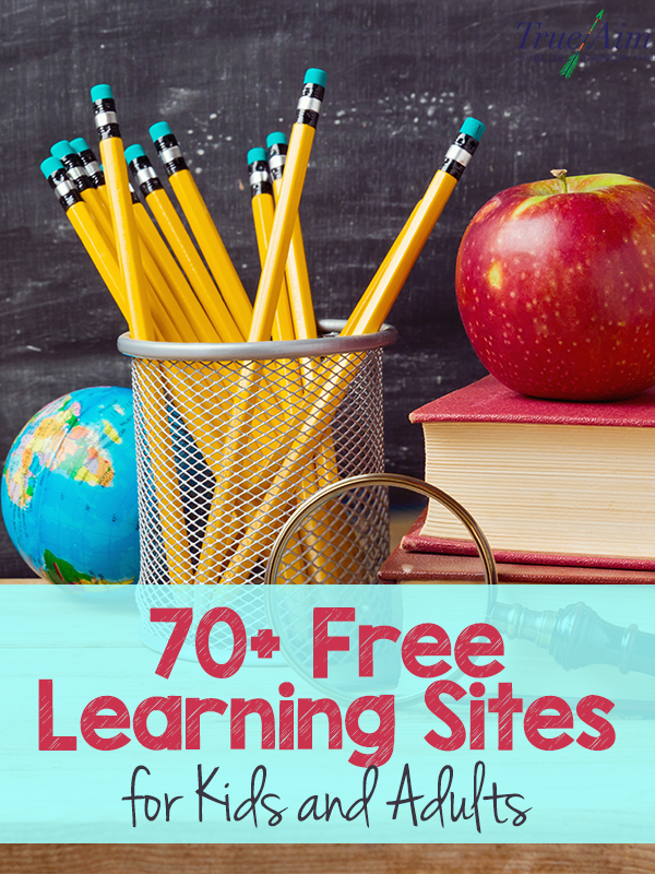 70+ Free Learning Sites for Kids and Adults