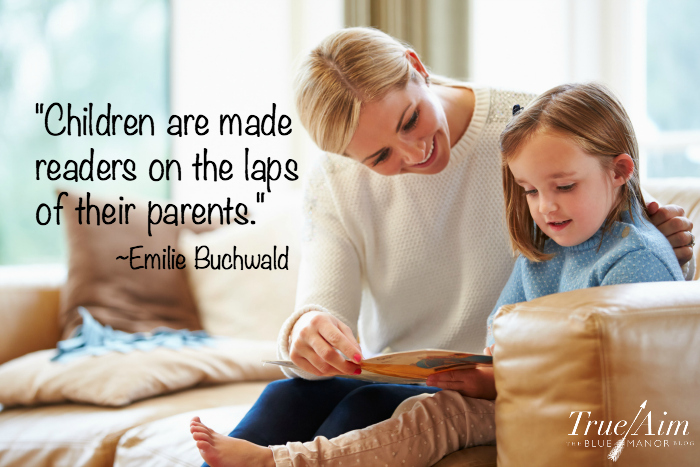 Children are made readers on the laps of their parents quote
