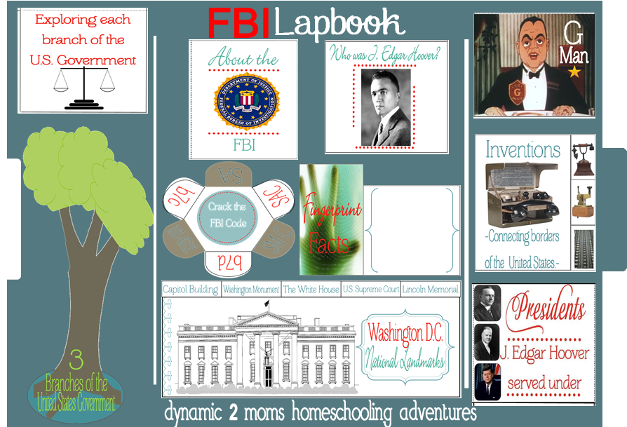 Lapbook FBI Collage younger 011832013