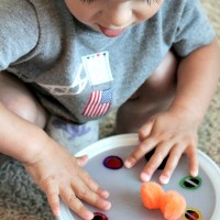 Preschool Activities: Colors and Math with Pom Poms!