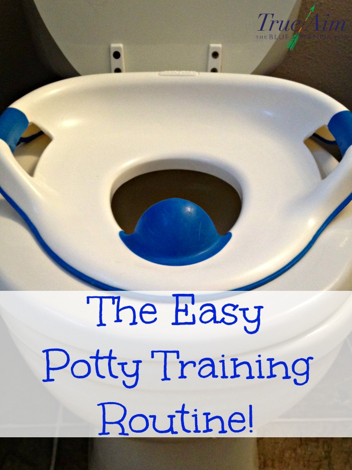 The easy potty training routine, no stress and no mess