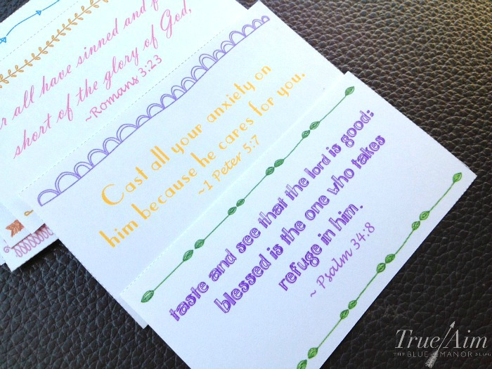 printable drive-thru verse cards