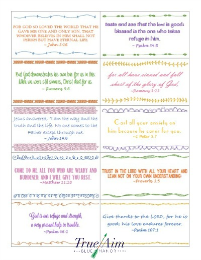 drive-thru verse cards printable