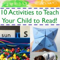 10 Activities to Help Teach Your Child to Read