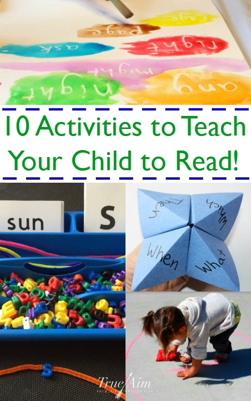 10 Activities to help you teach your child to read - totally awesome games!
