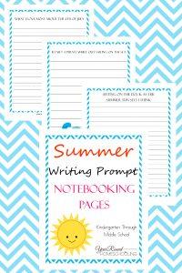 summer writing, writing prompts, summer, writing, homeschool, homeschooling