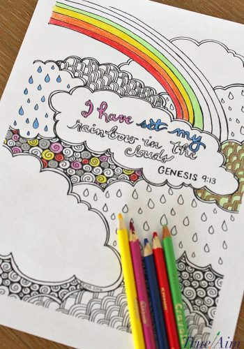 bible verse coloring page - genesis 913 - I have set my rainbow in the clouds