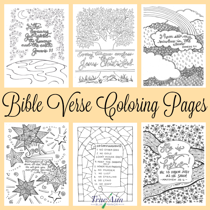 - 6 Bible Verse Coloring Pages True Aim