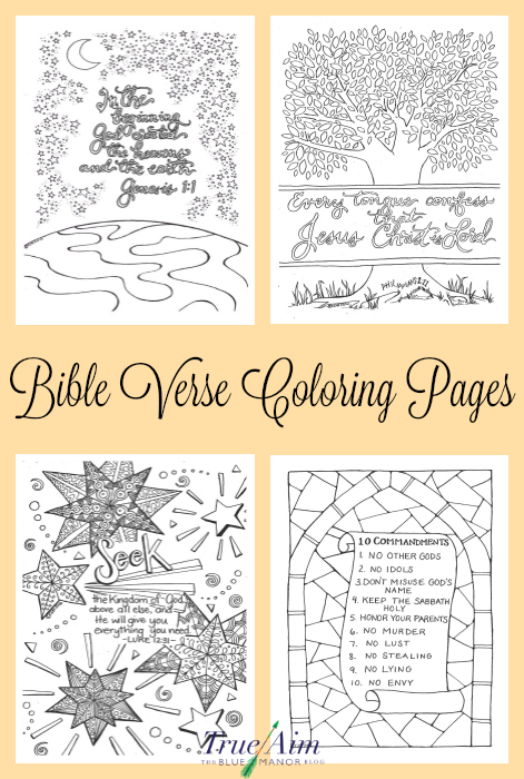 6 Bible Verse Coloring Pages