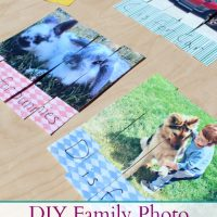 DIY Alphabet Family Photo Puzzles