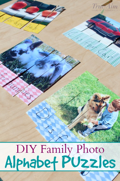 diy family photo puzzles