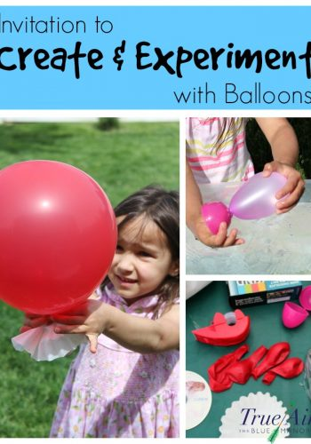 invitation to create and experiment with balloons