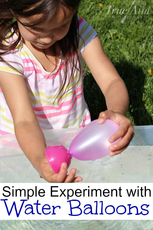 simple water balloon experiment