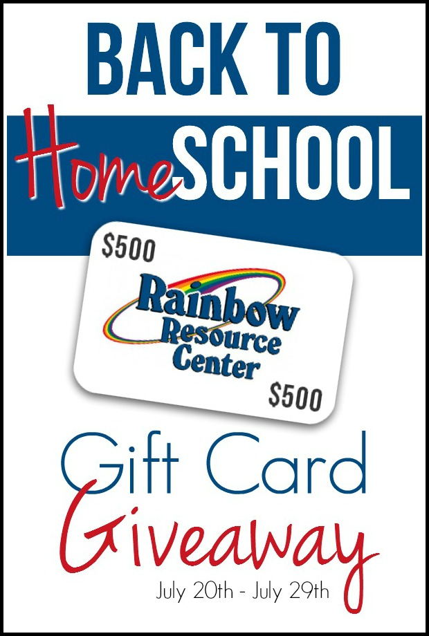 Back to Homeschool Gift Card Giveaway Vertical