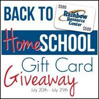 Huge Homeschool Giftcard Giveaway!