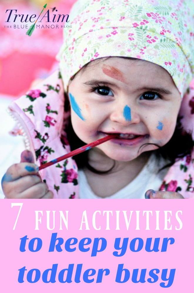 Check out these 7 fun activities to keep your toddler busy while homeschooling.