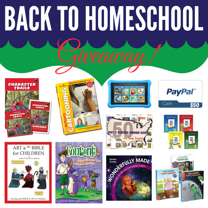 Back to homeschool giveaway main prizes