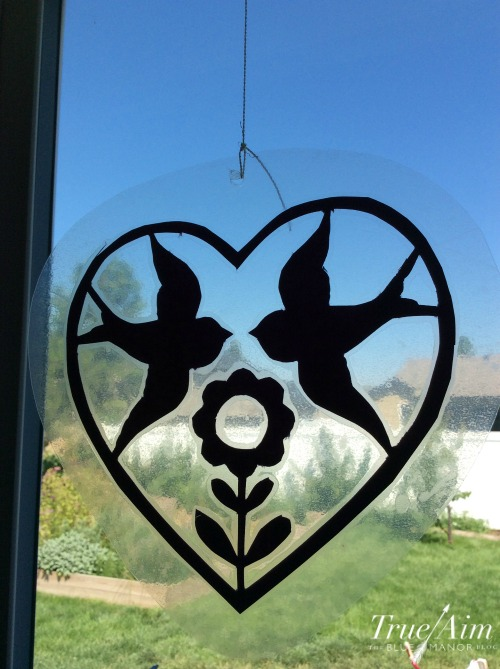 Decoupage suncatcher craft for kids