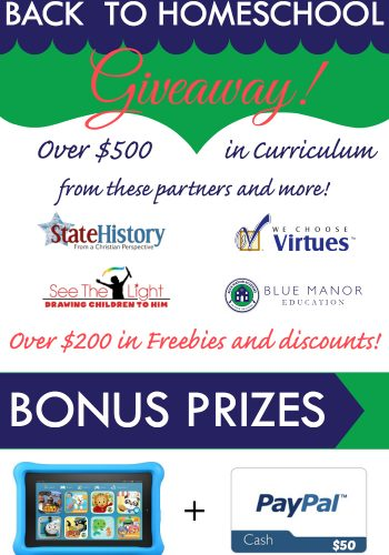 back to homeschool curriculum giveaway