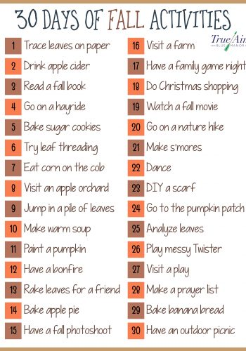 Fall Activities for Kids and Families