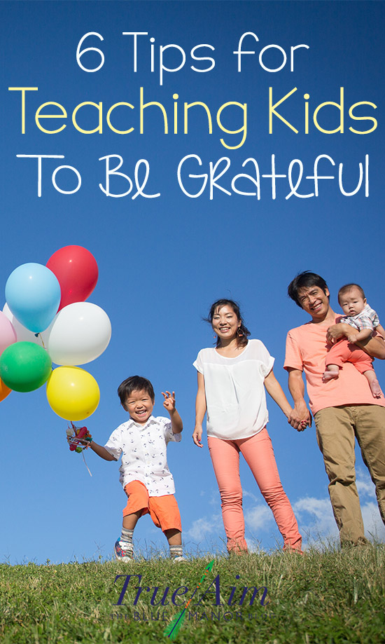 Teaching your kids to be grateful can be a challenge in our materialistic culture. Here are some easy tips to teaching your kids to be thankful.