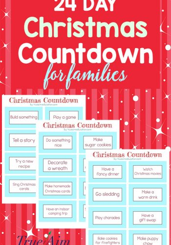 24 Day Christmas Countdown for Families – Free Printable