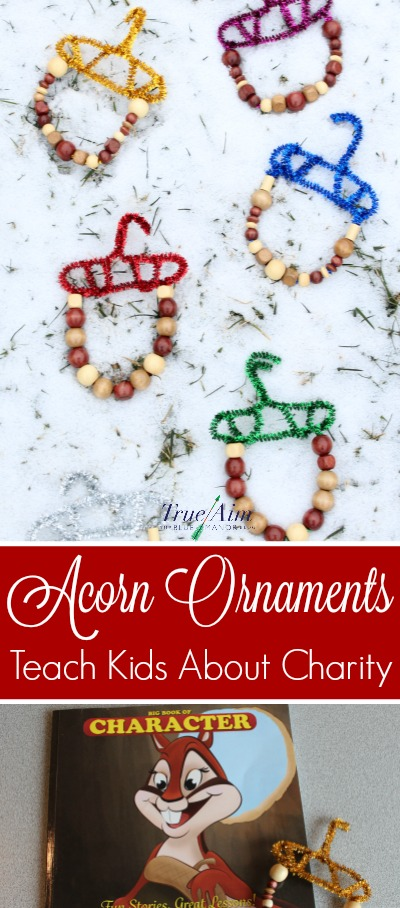 Teach your children about charity and sharing with others even when you don't have much with this story and acorn ornaments activity