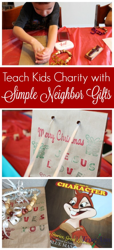 Teach kids about charity with these simple neighbor gifts and a special story