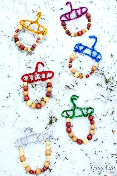 Easy acorn ornaments, kid made