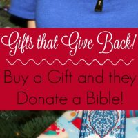 Christian Gifts that Give Back – Buy a Gift and They Give a Bible
