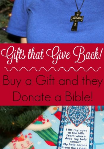 Gifts that give back - Logos trading post donates a bible for every product purchased!