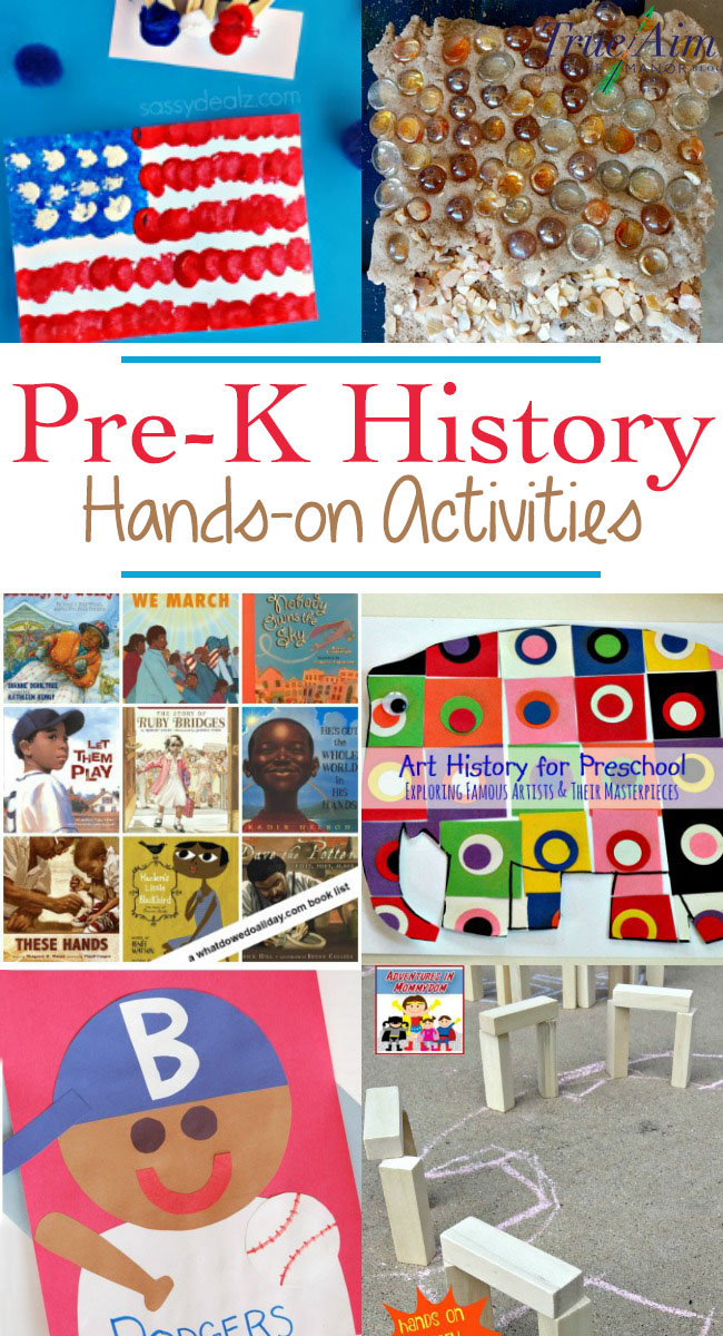 Get hands-on with these history activities for preschool and kindergarten! Here are crafts, books, and more for bringing history alive.