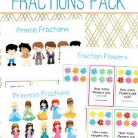 Free Royalty Fractions Pack for Kindergarten