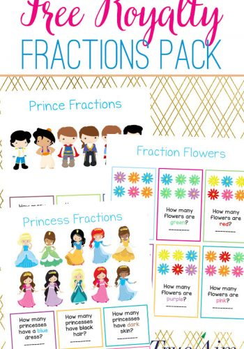 Free Royalty Fractions Pack for Kindergarten